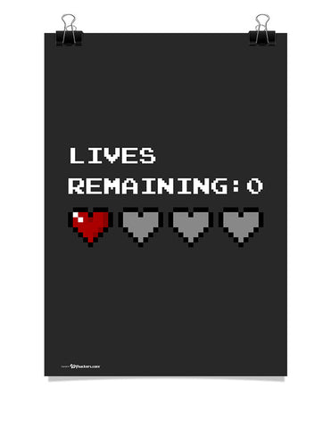 Lives Remaining Zero Poster