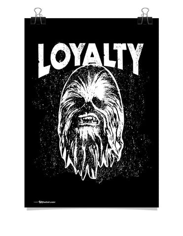 Poster - Star Wars Force Awakens Loyalty Chewie Adult Poster For Jedi Masters  - 1