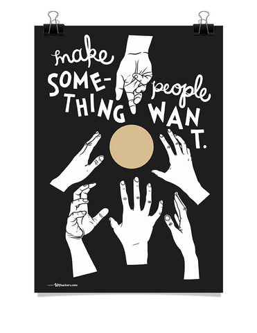 Make Something People Want Poster