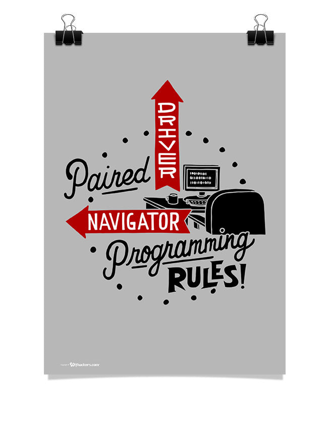 Poster - Paired programming rules.  - 1