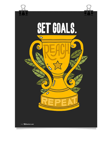Poster - Set goals. Reach. Repeat.  - 1