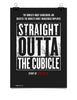 Poster - Official Straight Outta The Cubical Movie Poster For NWA Members Living Outside of Compton California  - 1