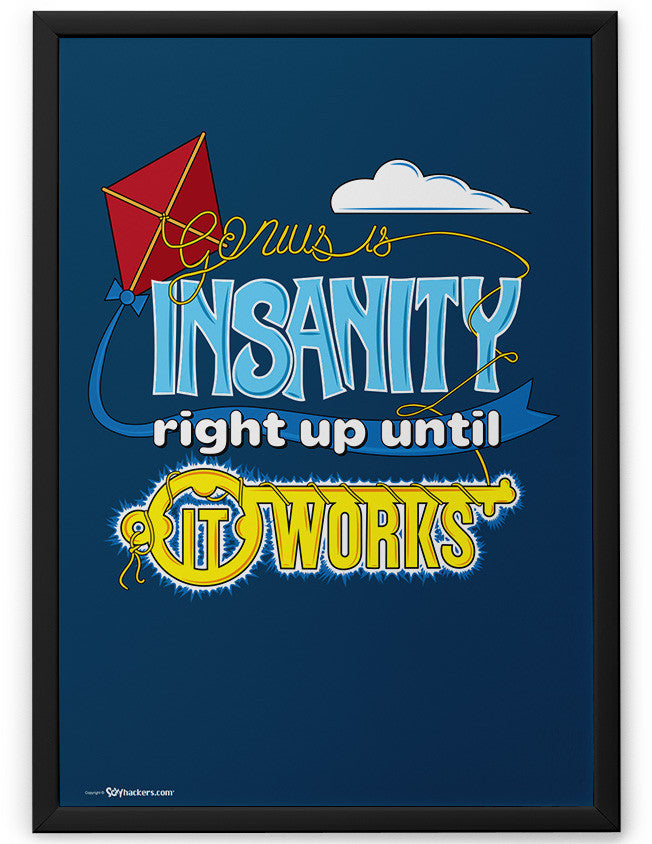 Poster - Genius Is Insanity Right Up Until It Works  - 2