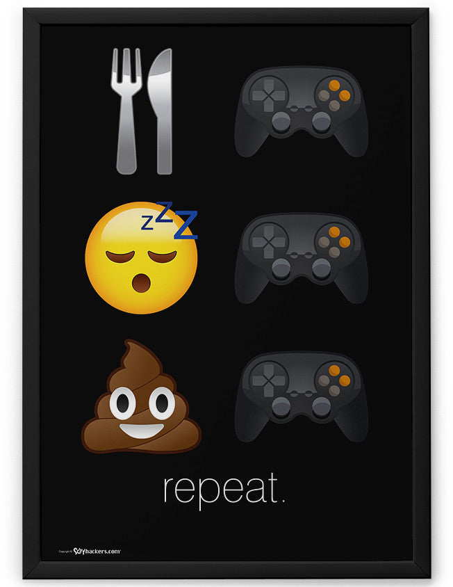 Poster - Eat Game. Sleep Game. Poop Game. Repeat.  - 2