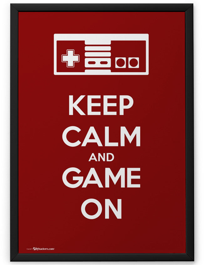 Poster - Keep Calm and Game On  - 2
