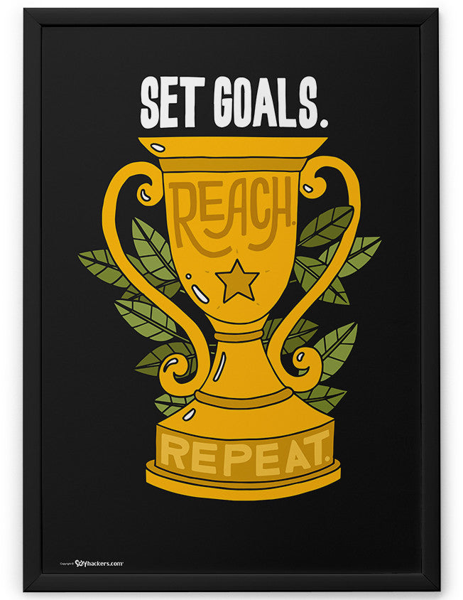 Poster - Set goals. Reach. Repeat.  - 2