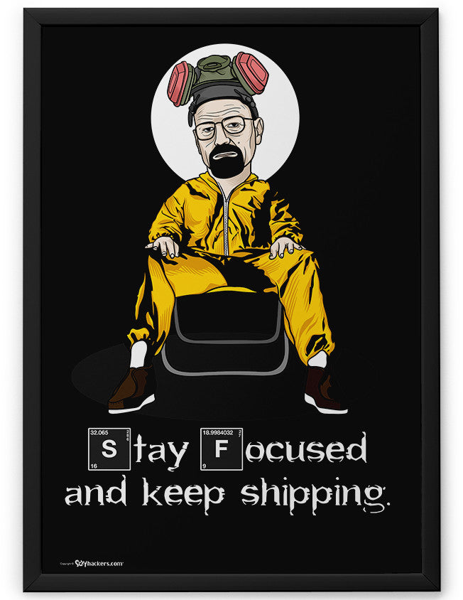 Poster - Stay focused and keep shipping.  - 2