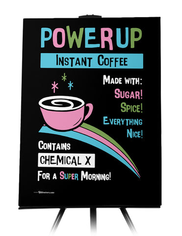 Power Up Coffee Canvas