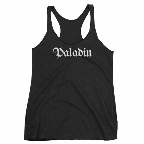 Paladin Fantasy RPG Class Title Racerback Tank-Top