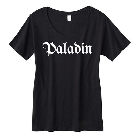 Paladin Fantasy RPG Class Title Scoopneck Tee