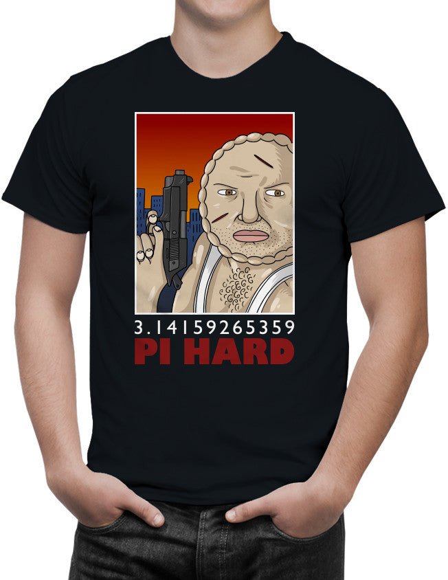 Pi Hard Unisex T-Shirt by Sexy Hackers