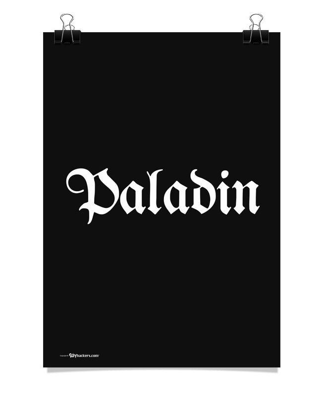 Paladin Fantasy RPG Class Title Poster