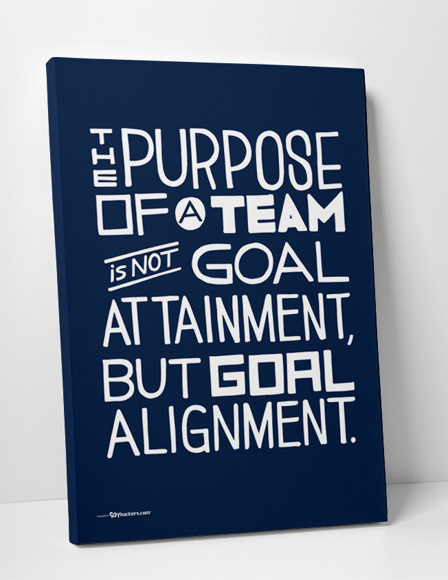 Canvas - The Purpose Of A Team Is Not Goal Attainment, But Goal Alignment.  - 2