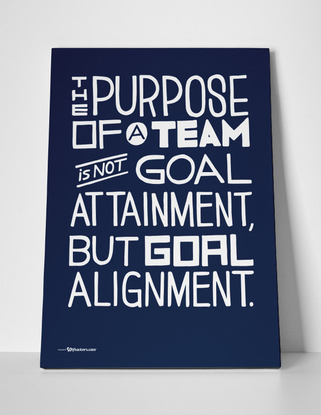 Canvas - The Purpose Of A Team Is Not Goal Attainment, But Goal Alignment.  - 3