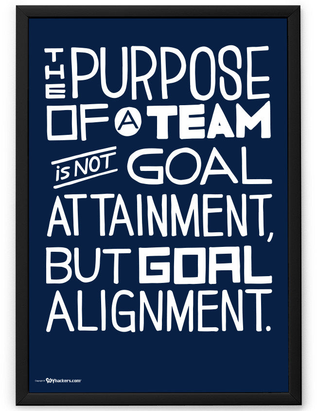 Poster - The Purpose Of A Team Is Not Goal Attainment, But Goal Alignment.  - 2