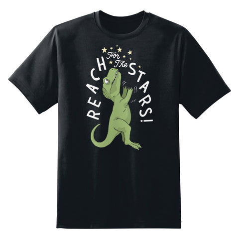 Reach For The Stars T-Rex Funny Men's Unisex T-Shirt