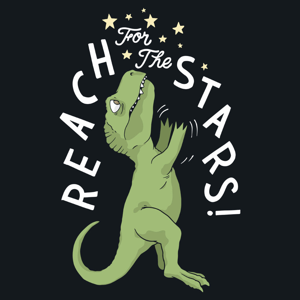 Reach For The Stars T-Rex Funny Unisex T-Shirt