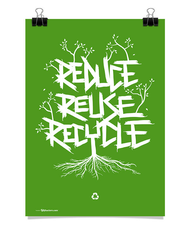 Poster - Reduce Reuse Recycle  - 1