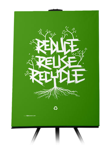 Reduce Reuse Recycle Canvas