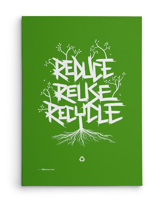 Canvas - Reduce Reuse Recycle  - 2