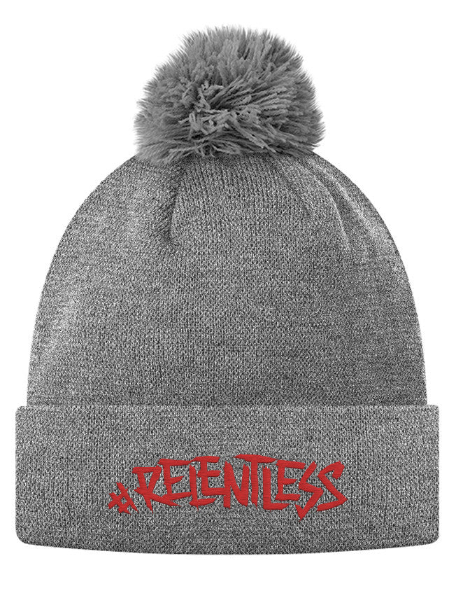 Pom Pom Knit Cap - #Relentless  - 2