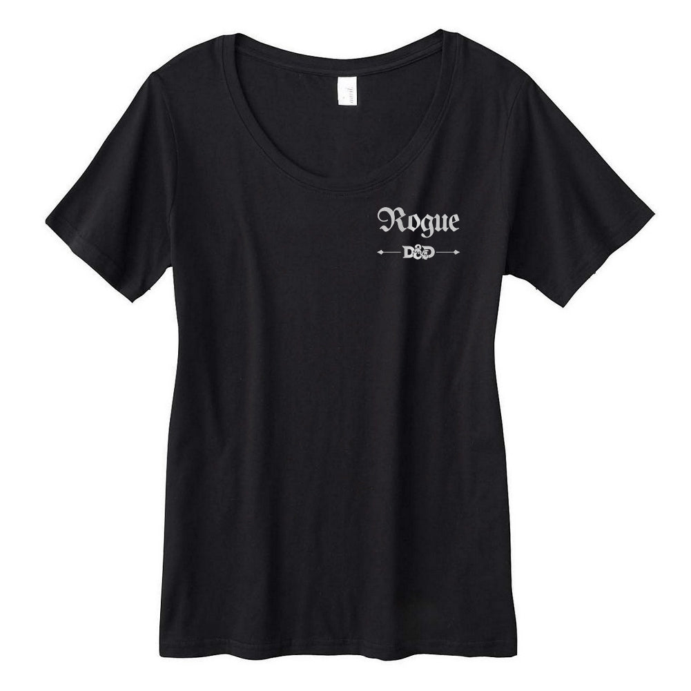 Rogue Class D&D Women's Sheer Scoopneck Shirt