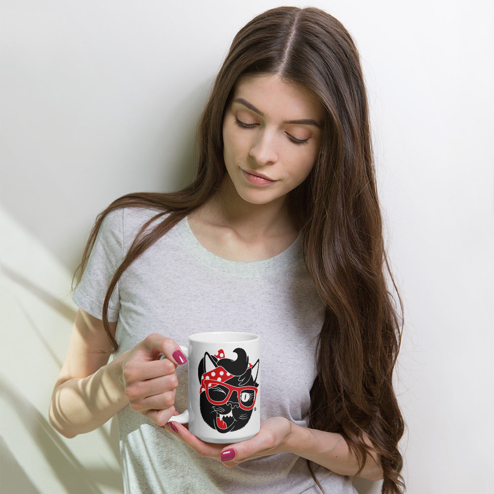 Sexy Hackers Cat Logo Coffee Mug