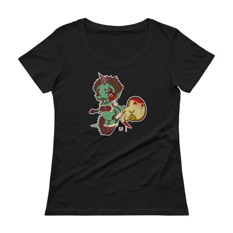 SHTV Green Orc Women's Scoopneck T-shirt
