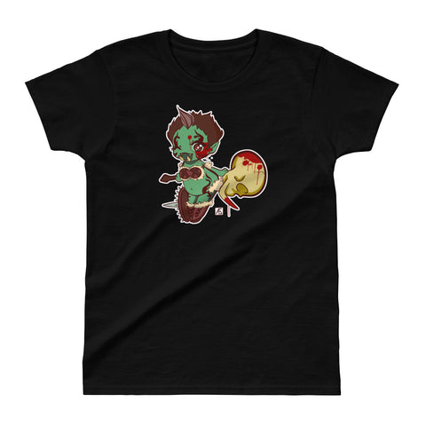 SHTV Green Orc Ladies Ultra Cotton T-shirt