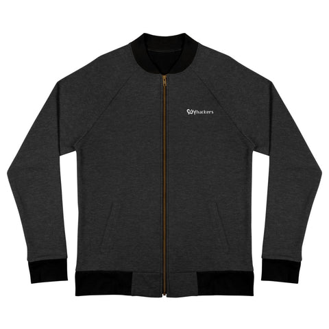 Sexy Hackers Letter Logo Embroidered Bomber Jacket