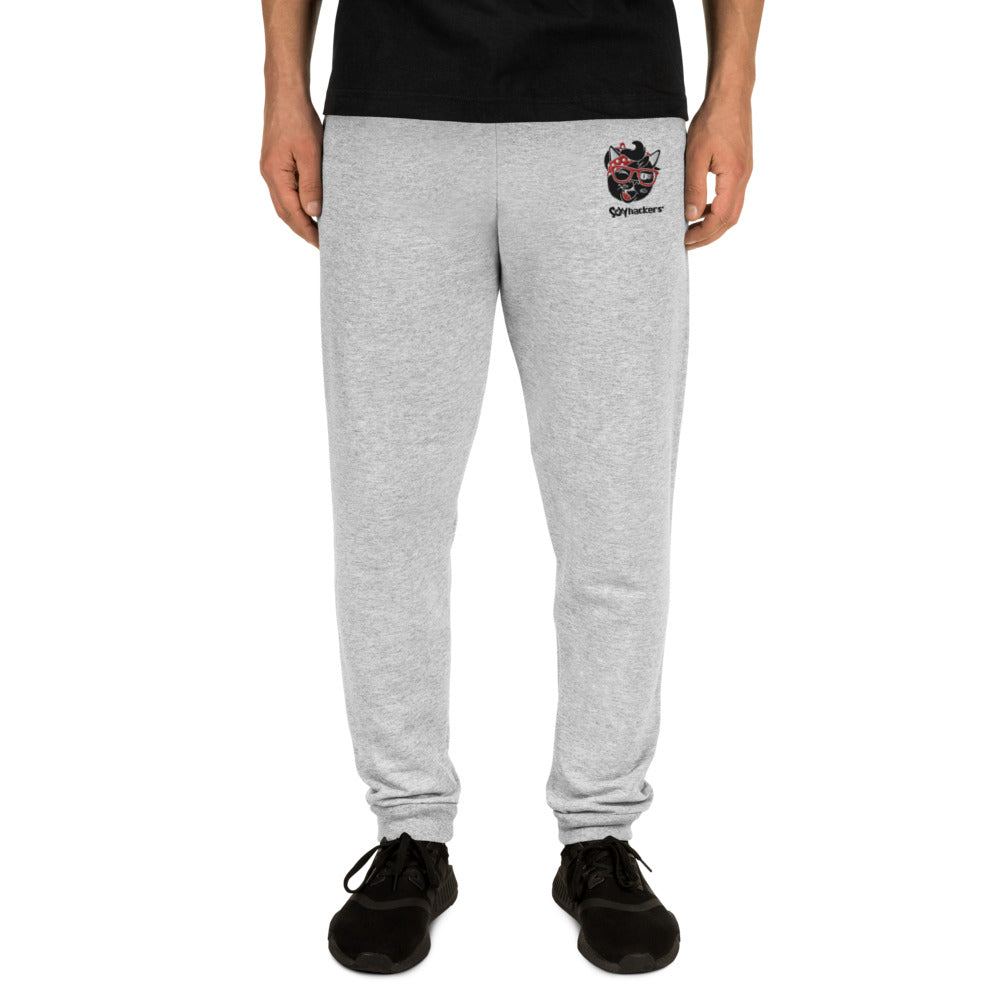 Embroidery Gray Sexy Hackers Logo - Unisex Sweatpants