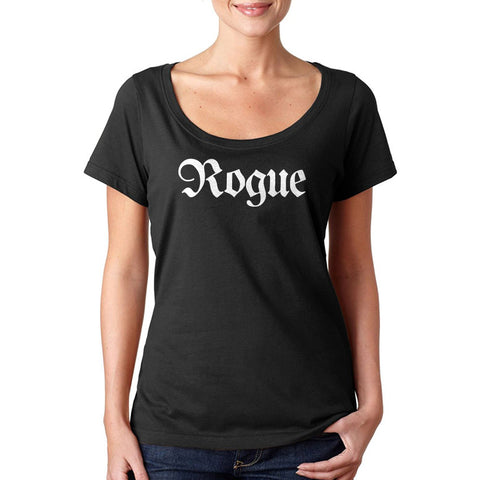 Rogue Class Large Title Sheer Scoopneck Tee