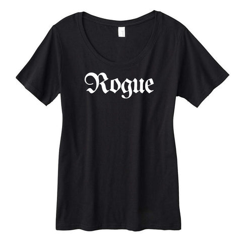 Rogue Fantasy RPG Class Title Women's Sheer Scoopneck Tee