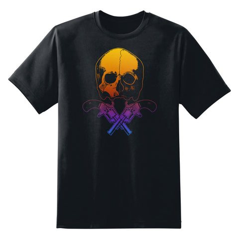 Skull and Crossed Guns Unisex T-Shirt