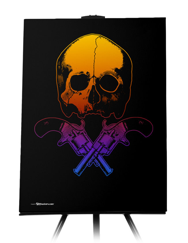 Canvas - Skull & Crossed Guns  - 1
