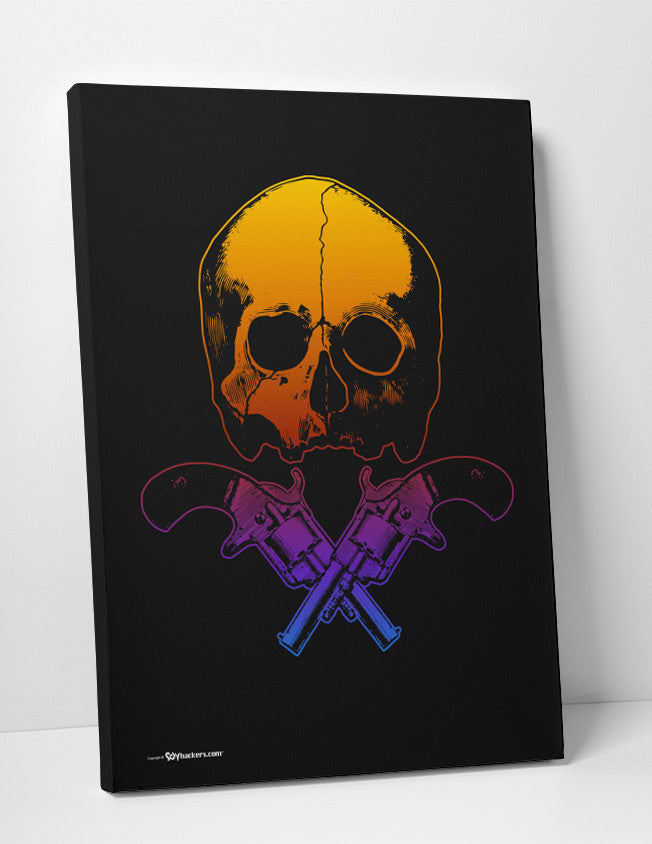 Canvas - Skull & Crossed Guns  - 2