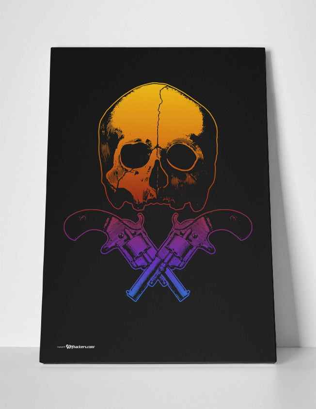 Canvas - Skull & Crossed Guns  - 3