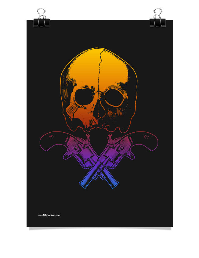 Poster - Skull & Crossed Guns  - 1