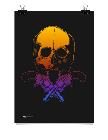 Skull & Crossed Guns Poster