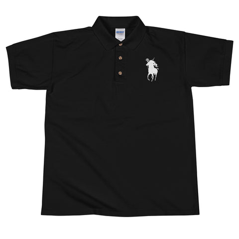Sleepy Ralph Embroidered Headless Horseman Men's Polo Shirt
