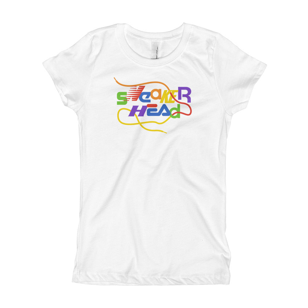 SneakerHead - Rainbow on White Princess T-shirt