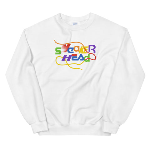 SneakerHead - Rainbow on White Unisex Sweatshirts