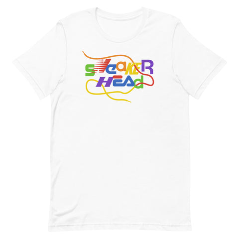 SneakerHead - Rainbow on White Unisex T-shirt