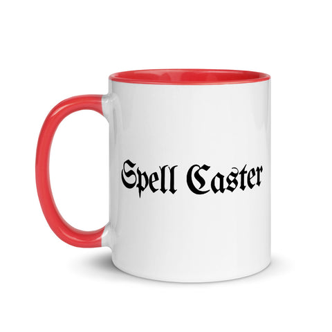 Spell Caster Coffee White Ceramic Mug with Color Inside