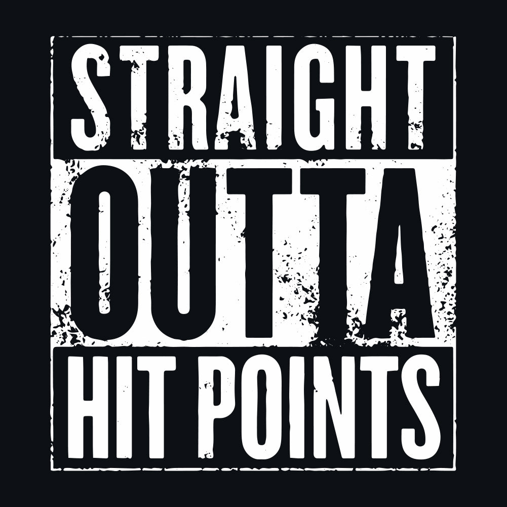 D&D Straight Outta Hit Points Men's Unisex T-Shirt by Sexy Hackers