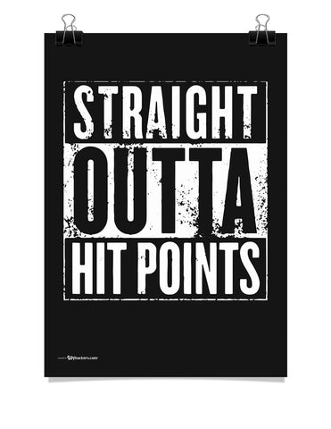D&D Straight Outta Hit Points Poster