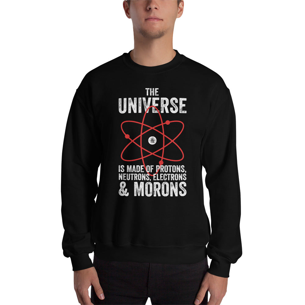 The Universe, Protons, and Morons Unisex Sweatshirt