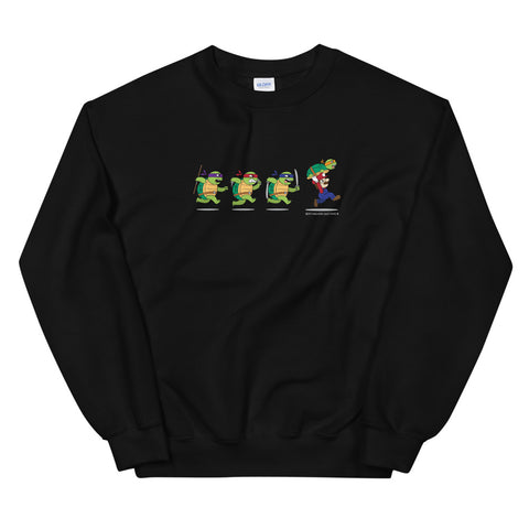 Ninja Turtles and Mario Unisex Sweatshirts