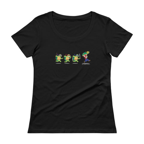 Ninja Turtles and Mario Women's Scoopneck T-shirt