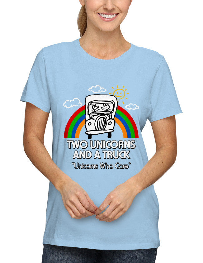 Shirt - Two Unicorns and A Truck  - 2